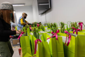 Our Spring Surprise bags being prepared